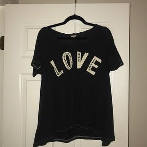 Natural Life Love Flowy Tee